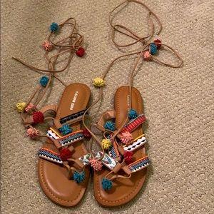 Gianni Bini Lace Up Sandals